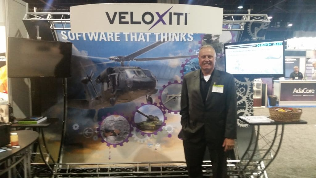 John Merrihew at the AUVSI trade show.